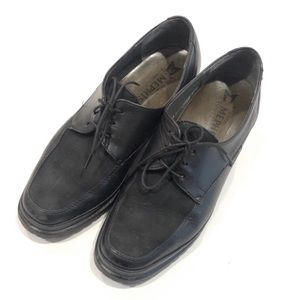 Mephisto Lace Up Leather / Suede Loafers